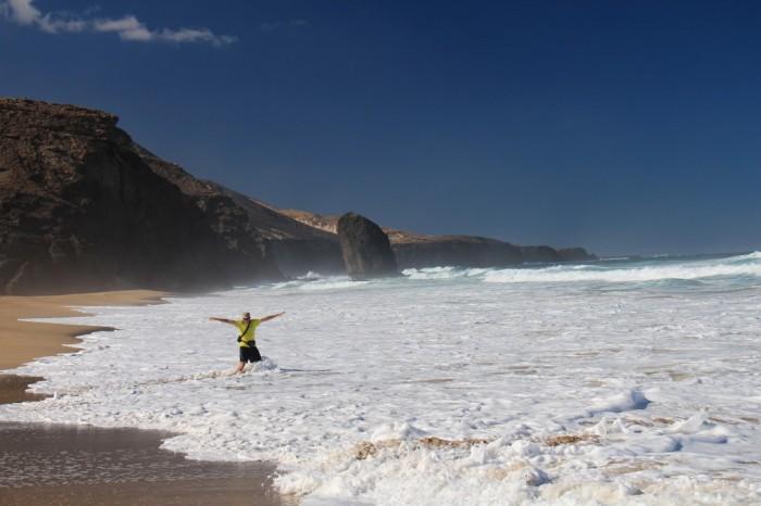 Fuerteventuras vientuļā pludmale, Kanāriju salas
